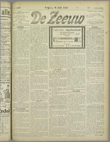 De Zeeuw. Christelijk-historisch nieuwsblad voor Zeeland 1921-07-08