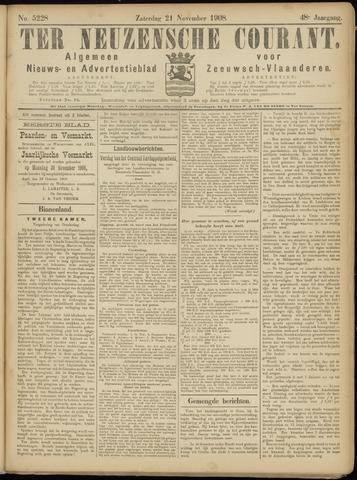 Ter Neuzensche Courant. Algemeen Nieuws- en Advertentieblad voor Zeeuwsch-Vlaanderen / Neuzensche Courant ... (idem) / (Algemeen) nieuws en advertentieblad voor Zeeuwsch-Vlaanderen 1908-11-21