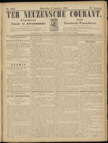 Ter Neuzensche Courant. Algemeen Nieuws- en Advertentieblad voor Zeeuwsch-Vlaanderen / Neuzensche Courant ... (idem) / (Algemeen) nieuws en advertentieblad voor Zeeuwsch-Vlaanderen 1897-09-02