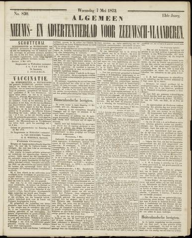 Ter Neuzensche Courant. Algemeen Nieuws- en Advertentieblad voor Zeeuwsch-Vlaanderen / Neuzensche Courant ... (idem) / (Algemeen) nieuws en advertentieblad voor Zeeuwsch-Vlaanderen 1873-05-07