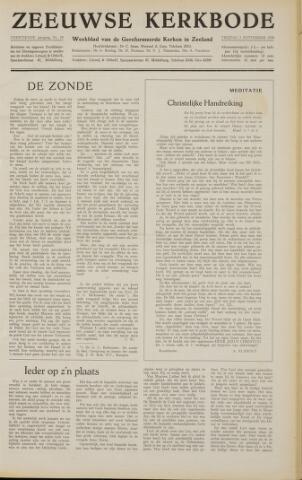 Zeeuwsche kerkbode, weekblad gewijd aan de belangen der gereformeerde kerken/ Zeeuwsch kerkblad 1958-09-05