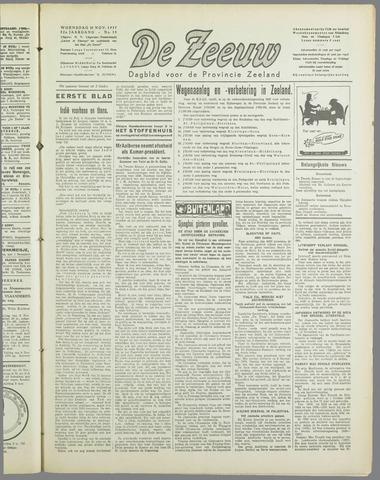 De Zeeuw. Christelijk-historisch nieuwsblad voor Zeeland 1937-11-10