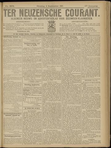 Ter Neuzensche Courant. Algemeen Nieuws- en Advertentieblad voor Zeeuwsch-Vlaanderen / Neuzensche Courant ... (idem) / (Algemeen) nieuws en advertentieblad voor Zeeuwsch-Vlaanderen 1917-09-04