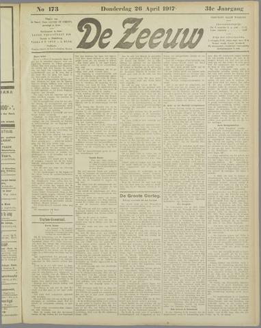 De Zeeuw. Christelijk-historisch nieuwsblad voor Zeeland 1917-04-26