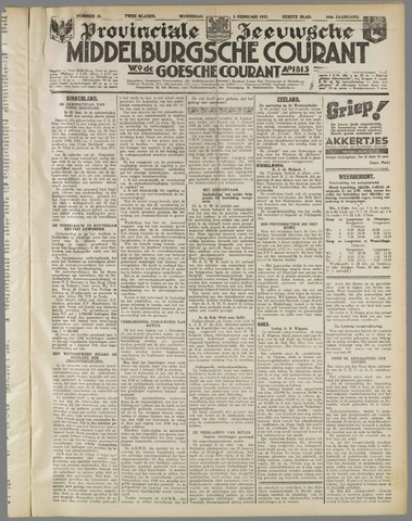 Middelburgsche Courant 1937-02-03