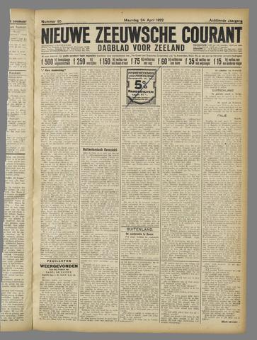 Nieuwe Zeeuwsche Courant 1922-04-24