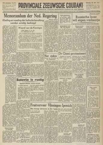 Provinciale Zeeuwse Courant 1947-07-22