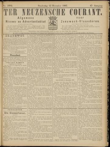 Ter Neuzensche Courant. Algemeen Nieuws- en Advertentieblad voor Zeeuwsch-Vlaanderen / Neuzensche Courant ... (idem) / (Algemeen) nieuws en advertentieblad voor Zeeuwsch-Vlaanderen 1907-12-12