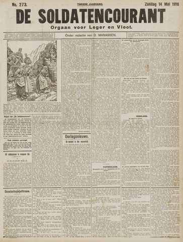 De Soldatencourant. Orgaan voor Leger en Vloot 1916-05-14