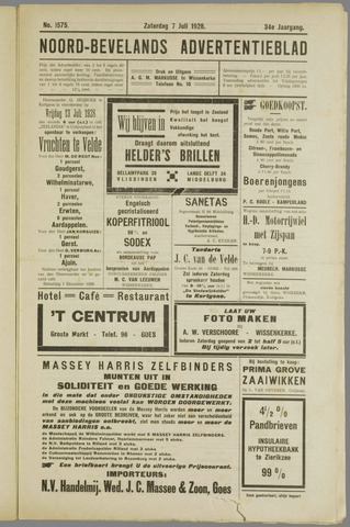 Noord-Bevelands Nieuws- en advertentieblad 1928-07-07