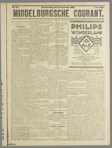 Middelburgsche Courant 1927-11-10