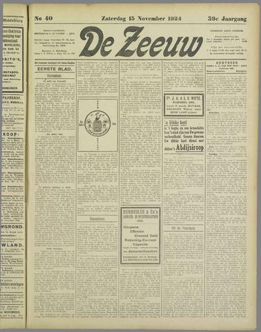 De Zeeuw. Christelijk-historisch nieuwsblad voor Zeeland 1924-11-15