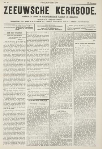 Zeeuwsche kerkbode, weekblad gewijd aan de belangen der gereformeerde kerken/ Zeeuwsch kerkblad 1934-11-09