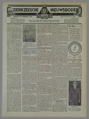 Zierikzeesche Nieuwsbode 1940-02-20