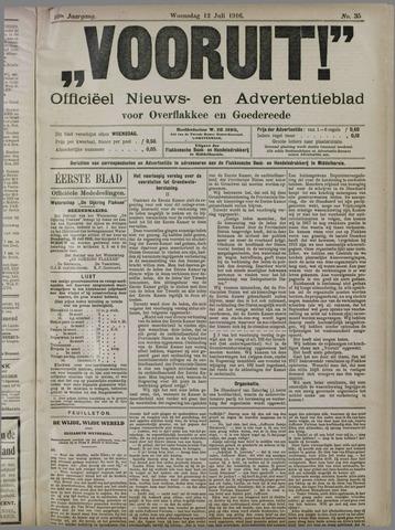 """""""Vooruit!""""Officieel Nieuws- en Advertentieblad voor Overflakkee en Goedereede 1916-07-12"""