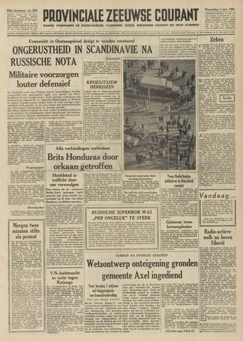 Provinciale Zeeuwse Courant 1961-11-01
