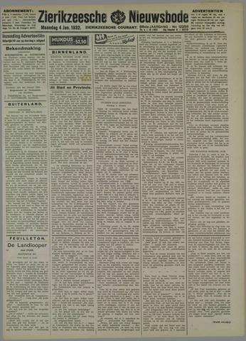 Zierikzeesche Nieuwsbode 1932-01-04