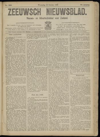 Ter Neuzensch Volksblad. Vrijzinnig nieuws- en advertentieblad voor Zeeuwsch- Vlaanderen / Zeeuwsch Nieuwsblad. Nieuws- en advertentieblad voor Zeeland 1918-10-16