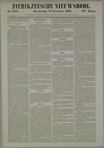 Zierikzeesche Nieuwsbode 1885-11-19