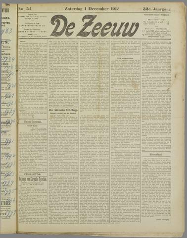 De Zeeuw. Christelijk-historisch nieuwsblad voor Zeeland 1917-12-01