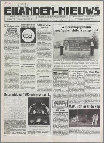 Eilanden-nieuws. Christelijk streekblad op gereformeerde grondslag 1985-11-05