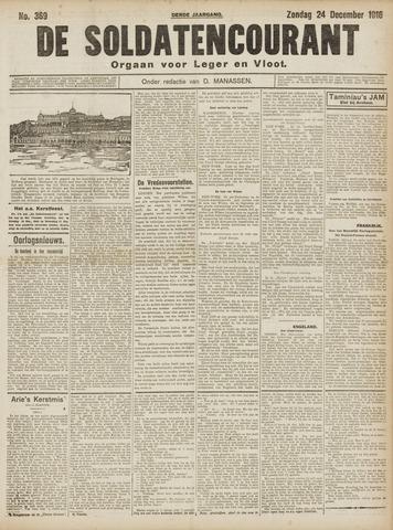 De Soldatencourant. Orgaan voor Leger en Vloot 1916-12-24