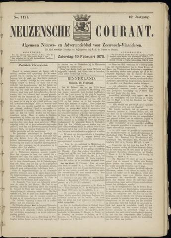 Ter Neuzensche Courant. Algemeen Nieuws- en Advertentieblad voor Zeeuwsch-Vlaanderen / Neuzensche Courant ... (idem) / (Algemeen) nieuws en advertentieblad voor Zeeuwsch-Vlaanderen 1876-02-19