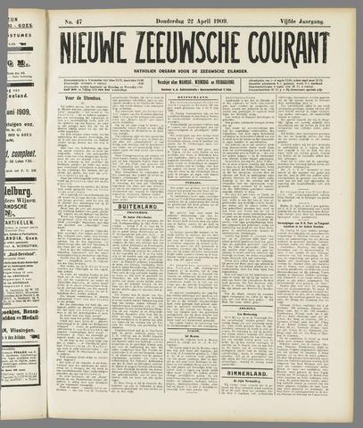 Nieuwe Zeeuwsche Courant 1909-04-22
