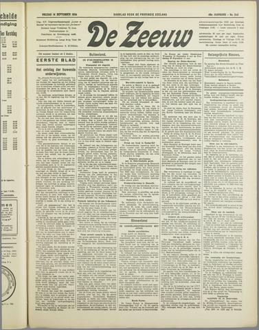De Zeeuw. Christelijk-historisch nieuwsblad voor Zeeland 1934-09-14