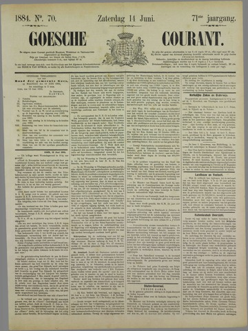 Goessche Courant 1884-06-14