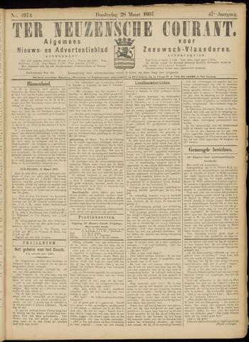 Ter Neuzensche Courant. Algemeen Nieuws- en Advertentieblad voor Zeeuwsch-Vlaanderen / Neuzensche Courant ... (idem) / (Algemeen) nieuws en advertentieblad voor Zeeuwsch-Vlaanderen 1907-03-28