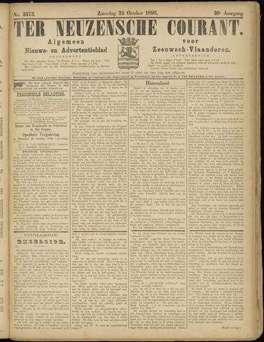Ter Neuzensche Courant. Algemeen Nieuws- en Advertentieblad voor Zeeuwsch-Vlaanderen / Neuzensche Courant ... (idem) / (Algemeen) nieuws en advertentieblad voor Zeeuwsch-Vlaanderen 1896-10-24