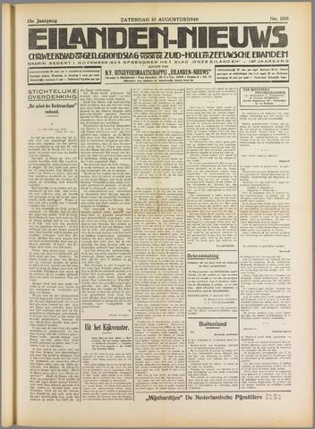 Eilanden-nieuws. Christelijk streekblad op gereformeerde grondslag 1940-08-10