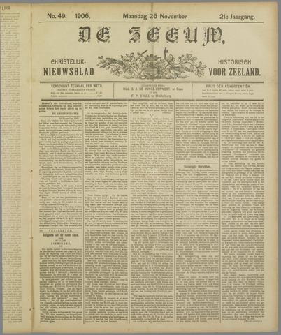 De Zeeuw. Christelijk-historisch nieuwsblad voor Zeeland 1906-11-26