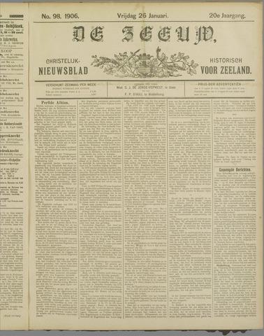 De Zeeuw. Christelijk-historisch nieuwsblad voor Zeeland 1906-01-26