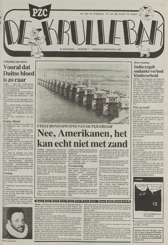 Provinciale Zeeuwse Courant katern Krullenbak (1981-1999) 1986-09-09