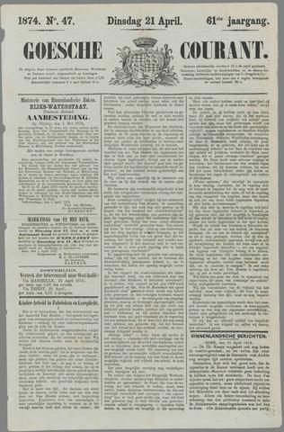 Goessche Courant 1874-04-21