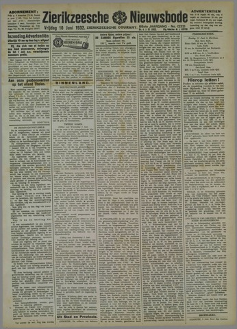 Zierikzeesche Nieuwsbode 1932-06-10