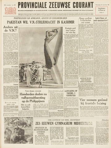 Provinciale Zeeuwse Courant 1965-09-29