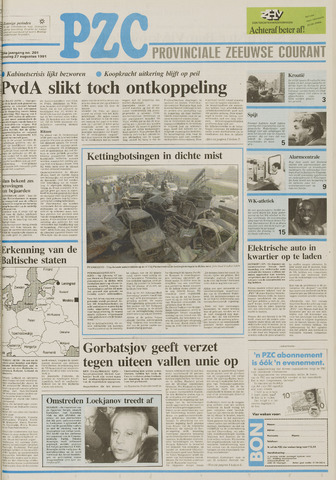 Provinciale Zeeuwse Courant 1991-08-27