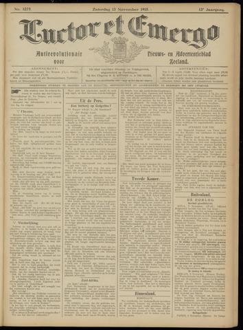 Luctor et Emergo. Antirevolutionair nieuws- en advertentieblad voor Zeeland / Zeeuwsch-Vlaanderen. Orgaan ter verspreiding van de christelijke beginselen in Zeeuwsch-Vlaanderen 1915-11-13