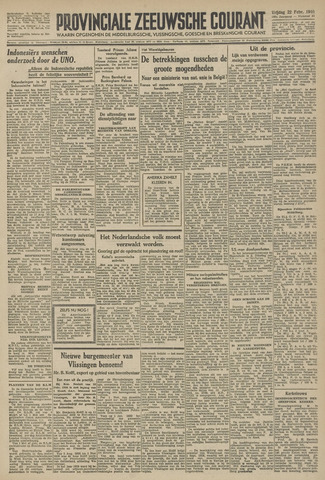 Provinciale Zeeuwse Courant 1946-02-22
