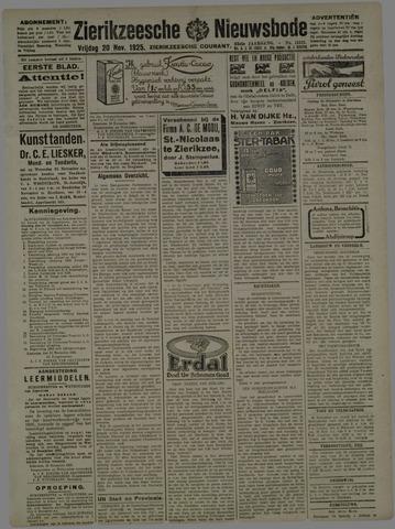 Zierikzeesche Nieuwsbode 1925-11-20