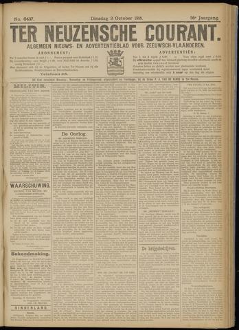 Ter Neuzensche Courant. Algemeen Nieuws- en Advertentieblad voor Zeeuwsch-Vlaanderen / Neuzensche Courant ... (idem) / (Algemeen) nieuws en advertentieblad voor Zeeuwsch-Vlaanderen 1916-10-03