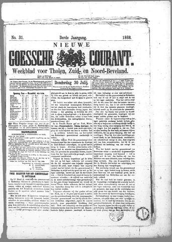 Nieuwe Goessche Courant 1868-07-30