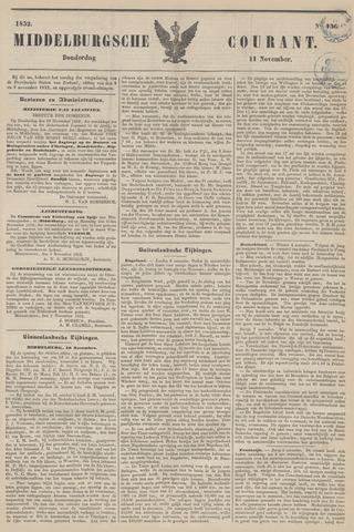 Middelburgsche Courant 1852-11-11