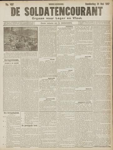 De Soldatencourant. Orgaan voor Leger en Vloot 1917-06-01