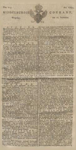 Middelburgsche Courant 1775-09-26