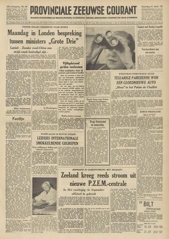 Provinciale Zeeuwse Courant 1954-04-10