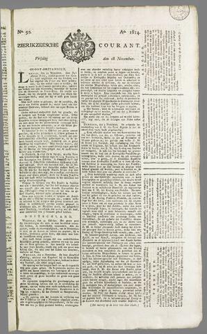 Zierikzeesche Courant 1814-11-18